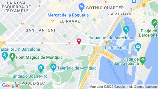 Hotel Barcelona Apolo, Affiliated by Meliá Map