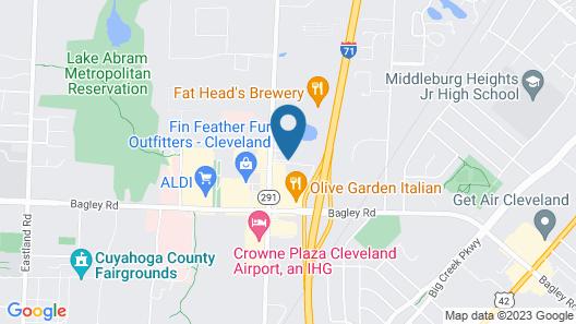 Comfort Inn Cleveland Airport Map