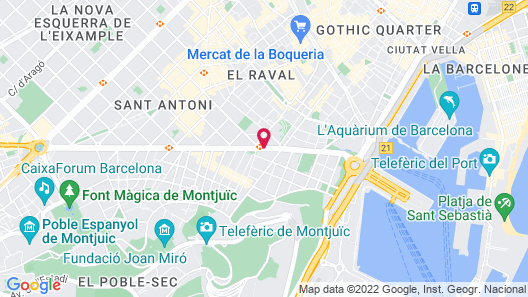 Hotel Barcelona Universal Map
