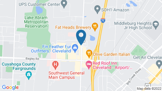 Hampton Inn & Suites Cleveland-Airport/Middleburg Heights Map