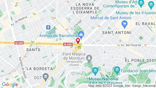 Catalonia Barcelona Plaza Map