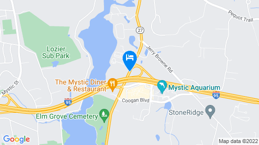 Mystic River Hotel & Suites Near Casinos Map