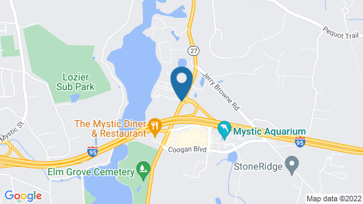 Hampton Inn & Suites Mystic Map