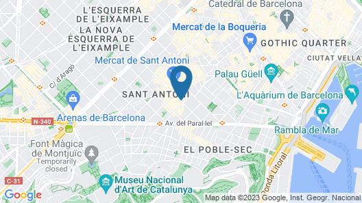 Weflating Suites Sant Antoni Market Map