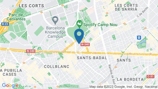 Hostal Conde Güell Map
