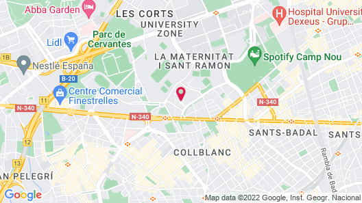 Hotel Spa Senator Barcelona Map