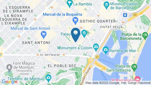Hotel Bárbara Map