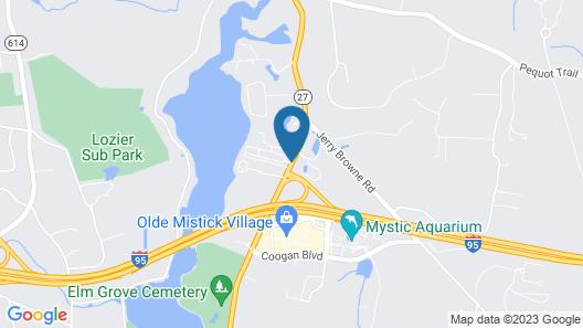 Quality Inn Mystic - Groton Map