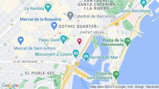 Catalonia Port Map