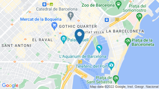 Catalonia Port Map