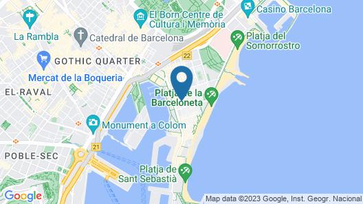 Uma Suites Barceloneta Beach Map