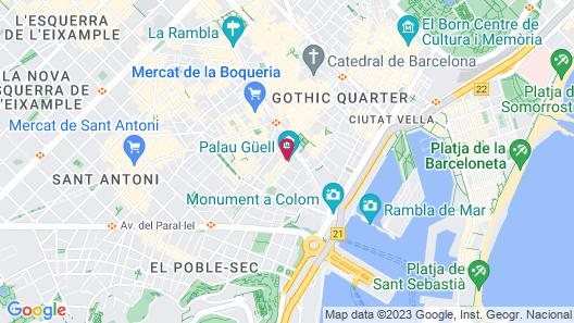 Hotel Gaudí Map