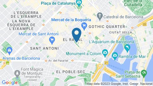 Barceló Raval Map