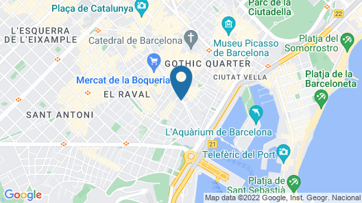 Ramblas Barcelona Map