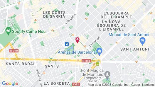 Expo Hotel Barcelona Map