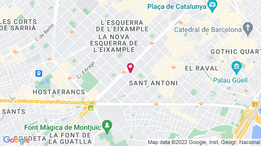 TWO Hotel Barcelona by Axel - Adults only Map