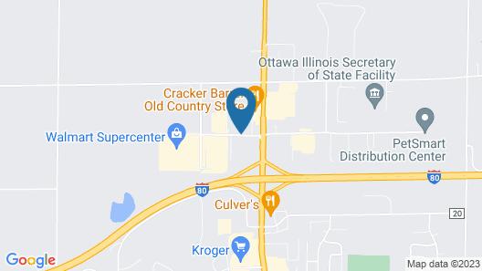 Comfort Inn Ottawa Starved Rock Area Map