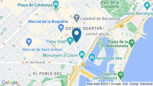 Hotel Barcelona House Map