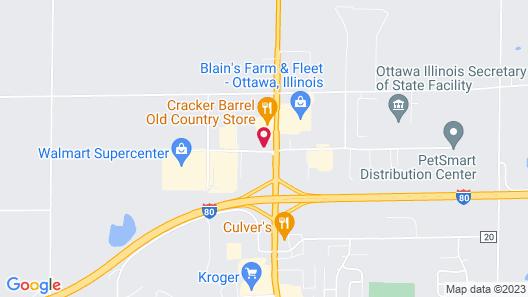 Hampton Inn Ottawa, IL Map