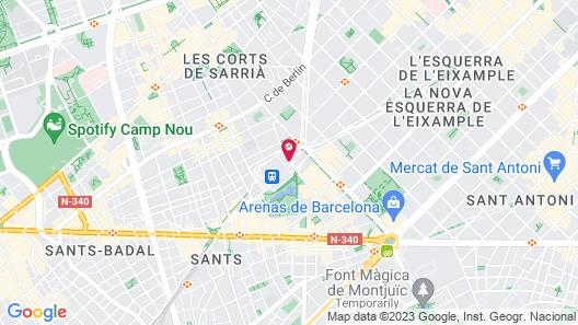 Barceló Sants Map