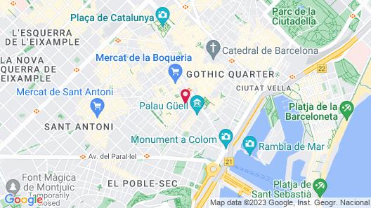 Hotel España Ramblas Map