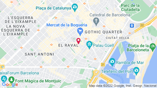Leonardo Hotel Barcelona Las Ramblas Map