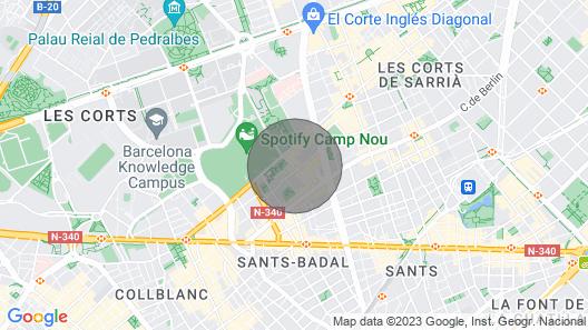 1751 - The Camp Nou FCB Apartment Map