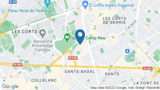 AB The Camp Nou FCB Apartment Map
