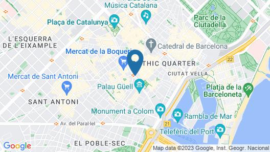 Hotel Ramblas Internacional Map