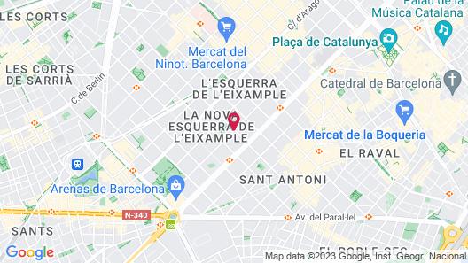 Leonardo Hotel Barcelona Gran Via Map