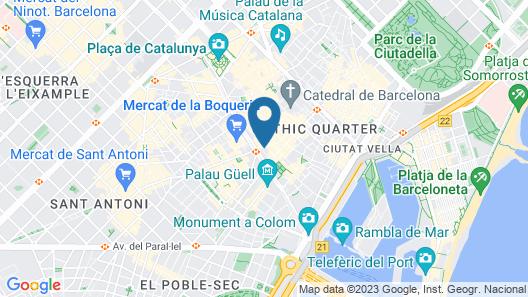 Petit Palace Boquería Garden Map