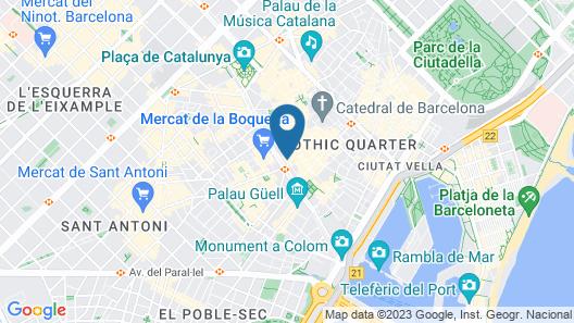 May Ramblas Barcelona Map