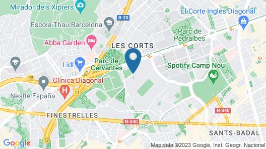 Fairmont Barcelona Rey Juan Carlos I Map