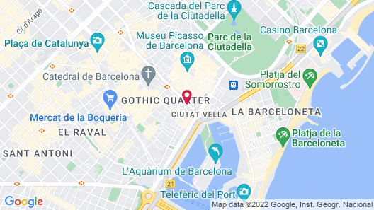 Hotel Barcelona Colonial Map