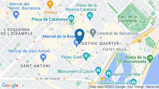 Apartments Rambla 102 Map