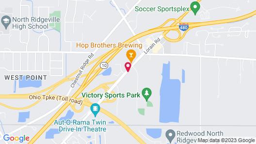 Super 8 by Wyndham Cleveland Map