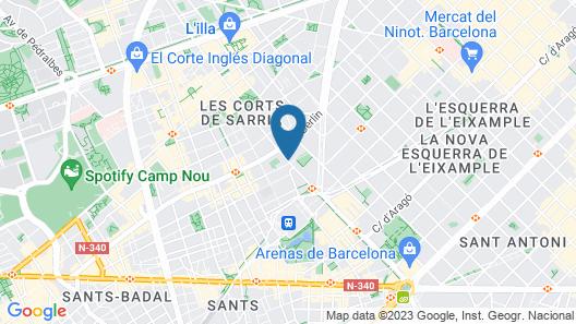 Abba Sants Hotel 4*Superior Map