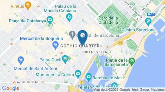 Mercer Hotel Barcelona Map
