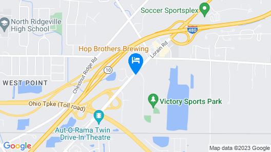 Motel 6 North Ridgeville, OH - Cleveland Intl Airport - N Ridgeville Map