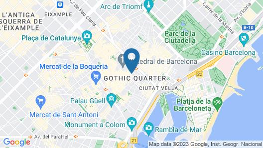 Gran Hotel Barcino Map