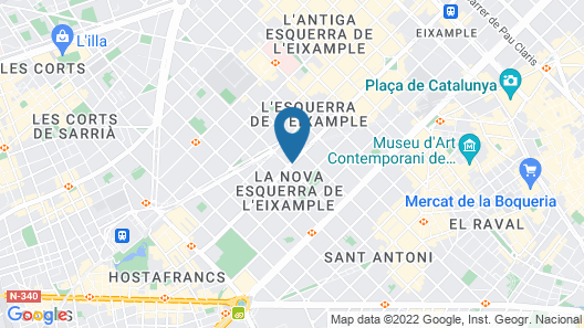 MH Apartments Barcelona Map