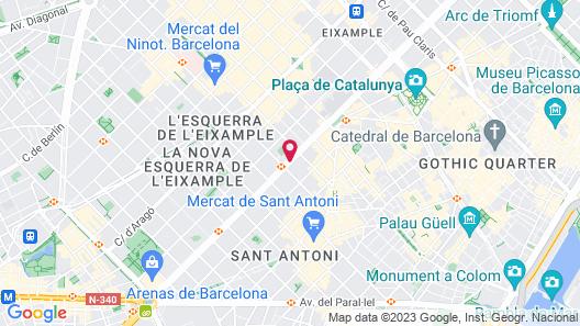 Hotel Catalonia Gran Vía BCN Map