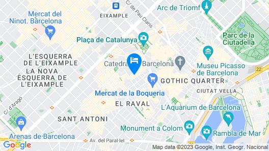 Casa Camper Barcelona Map