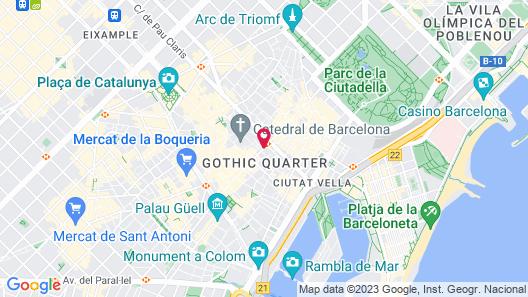 Hotel Gotico Map
