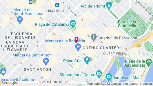 Le Meridien Barcelona Map