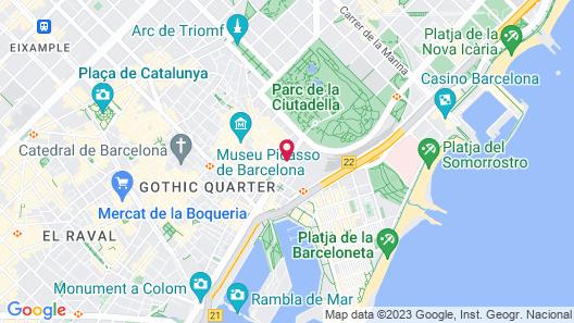 Park Hotel Barcelona Map