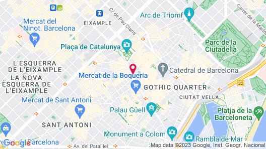 Hotel SERHS Rivoli Rambla Map