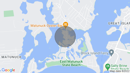 New to Market! RI East Matunuck Beach House Map