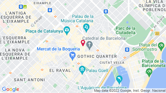 Catalonia Catedral Hotel Map