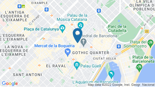 Catalonia Catedral Hotel Map